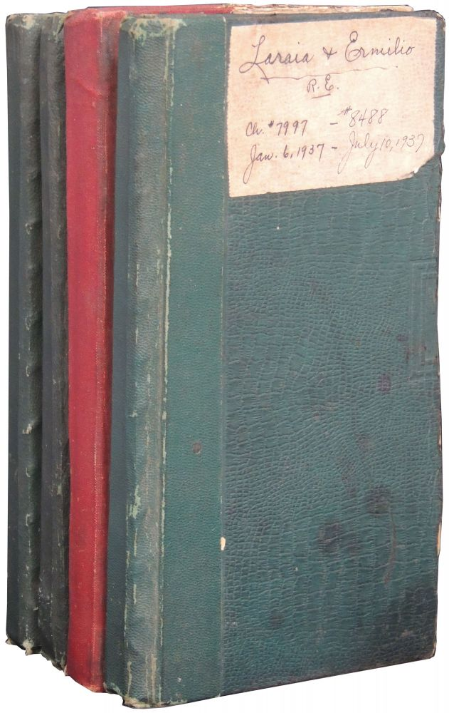 Four Account Ledgers for Laraia & Ermilio Real Estate, Worcester, Ma. 1931-1937