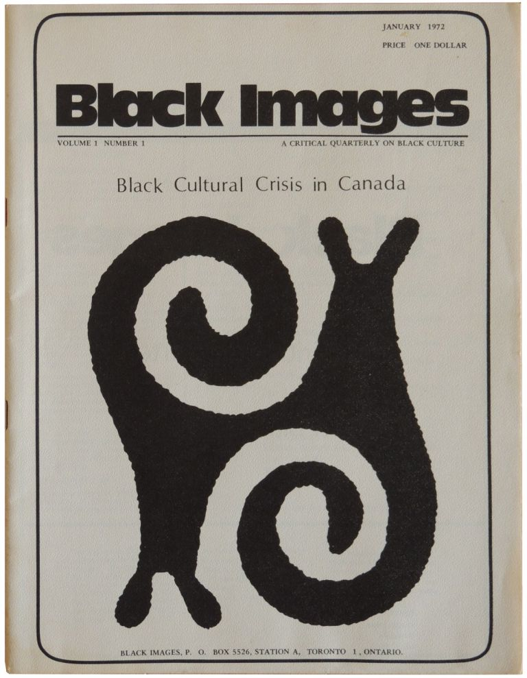 Black Images: A Critical Quarterly on Black Culture. Volume 1 Number 1. January 1972.