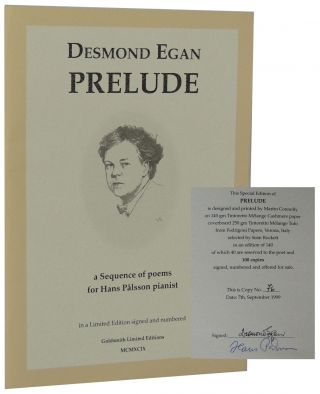 Prelude: A Sequence of Poems for Hans Pålsson Pianist. Desmond Egan