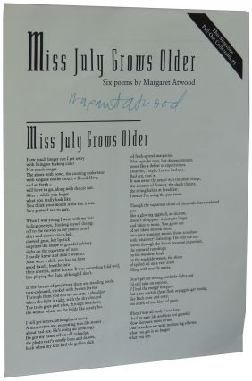 Miss July Grows Older: Six Poems by Margaret Atwood. This Magazine Pull-Out Collectable #1....