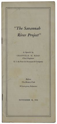 The Savannah River Project. Granville M. Read