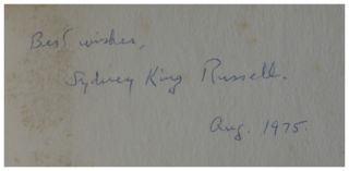 Poetry collection belonging toSydney King Russell, poet, editor, composer.
