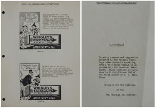 [Wrigley's Chewing Gum] Salesman Binder of B.S. Culley for Wm. Wrigley Jr. Company, 1935-1936