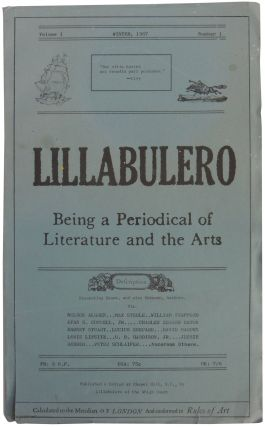 Lillabulero: Being a Periodical of Literature and the Arts. Volume I, Number 1. Ed. Russell Banks