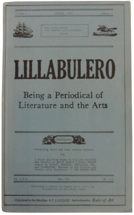 Lillabulero: Being a Periodical of Literature and the Arts. Volume I, Number 2. Spring, 1967. Ed....