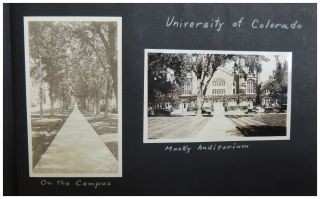 1920s Photo Album: Wisconsin and University of Colorado