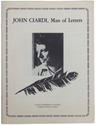 John Ciardi, Man of Letters