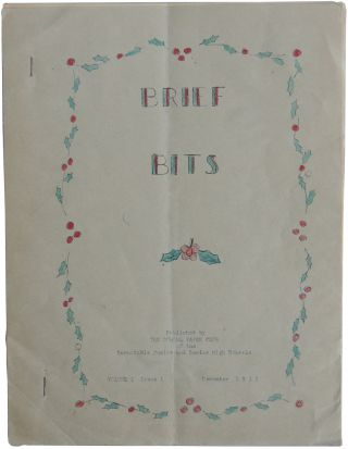Brief Bits. Volume I Issue 1. December 1932