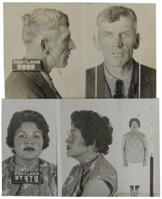 Two (2) Portland, Oregon Mug Shots, 1935 and 1959