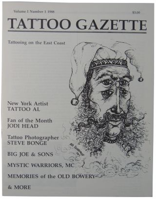 Tattoo Gazette Volume I Number 1 1988