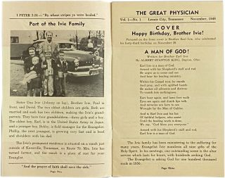 """The Great Physician Vol. 1-No. 1; (Cover title reads """"Healing Faith"""")"""
