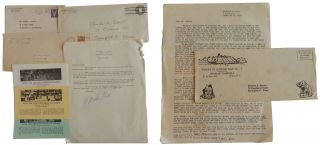 Collection of approximately 75 items (correspondence and ephemera) related to the Circus, 1944-1955, belonging to Charles Davitt of Springfield, MA