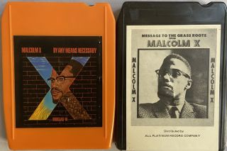 Two 8-Track Cartridges of Malcolm X