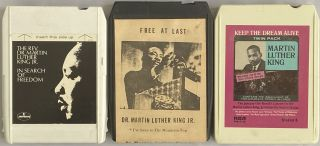 Three 8-Track Cartridges of Martin Luther King, Jr