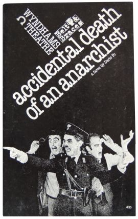 Playbill for Accidental Death of an Anarchist; A Farce by Dario Fo