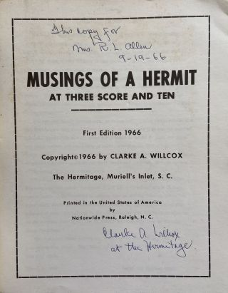 Musings of a Hermit at Three Score and Ten